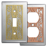 Stainless Steel Switch Plates with Music Theme