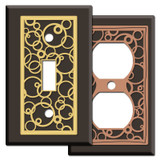 Brown Floating Circles Switch Plates