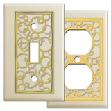 Ivory Wall Plates - Abstract Circles