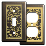 Modern Bronze Switch Plates