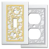 White Switch Plates - Decorative Circles