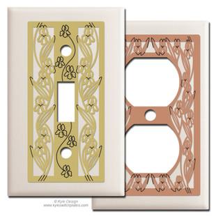 Feminine Switch Plates - Almond
