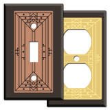 Craftsman Style Light Switch Covers in Brown