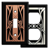 Art Nouveau Switch Plates in Black