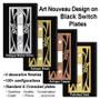 Metal Selections for Black Art Nouveau Cover Plates