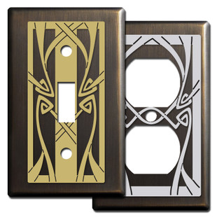 Bronze Art Nouveau Decor - Switch Plate Covers