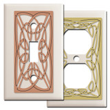 Decorative Irish Wall Plates with Celtic Knots - Almond