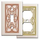 Decorative Irish Wall Plates with Celtic Knots - Almond