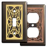 Bronze Irish Switch Plates with Celtic Knots