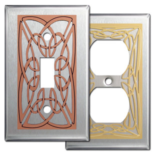 Stainless Steel Irish Switch Plates with Celtic Knot Design
