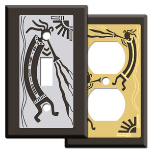 Brown Kokopelli Southwest Switch Plates
