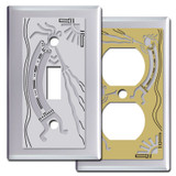 Chrome Kokopelli Southwest Switch Plates