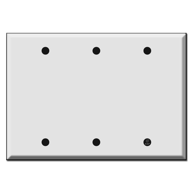 Triple Gang 3 Blank Switch Plates