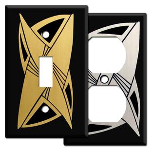 Black Decorative Retro Style Switch Plates
