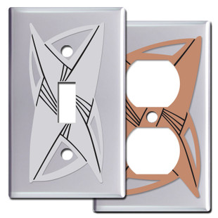 Vortex Switch Plates & Outlet Covers - Chrome