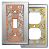 Stainless Steel Dragonfly Design Switch Plates