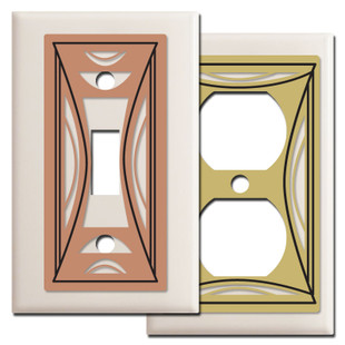 Modern Milano Switch Plates - Light Almond