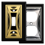 Modern Black Milano Switch Plate Covers