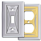 Modern Chrome Milano Switch Plates