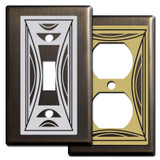 Modern Milano Switch Plates - Bronze