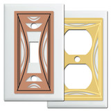White Modern Milano Switch Plates