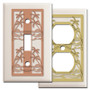 Tropical Switch Plates with Palm Trees - Almond