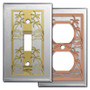 Tropical Stainless Steel Light Switch Plates & Outlet Covers