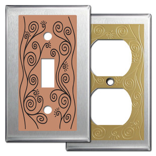 Stainless Steel Vine Design Wall Plates