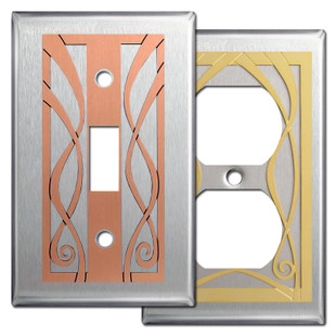 Stainless Steel Decorative Ribbon Switch Plate Covers