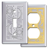 Chrome Outlet Covers & Switch Plates - Celestial Theme
