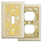 Decorative Celestial Theme Bronze Switch Plate Covers