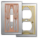 Stainless Steel Retro Art Deco Wall Plates