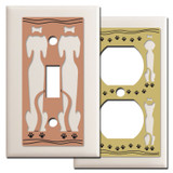 Dog Lover Switchplates in Light Almond