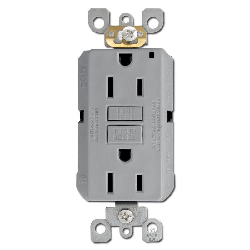 Gray 15A GFCI Decora Outlets | Kyle Switch Plates