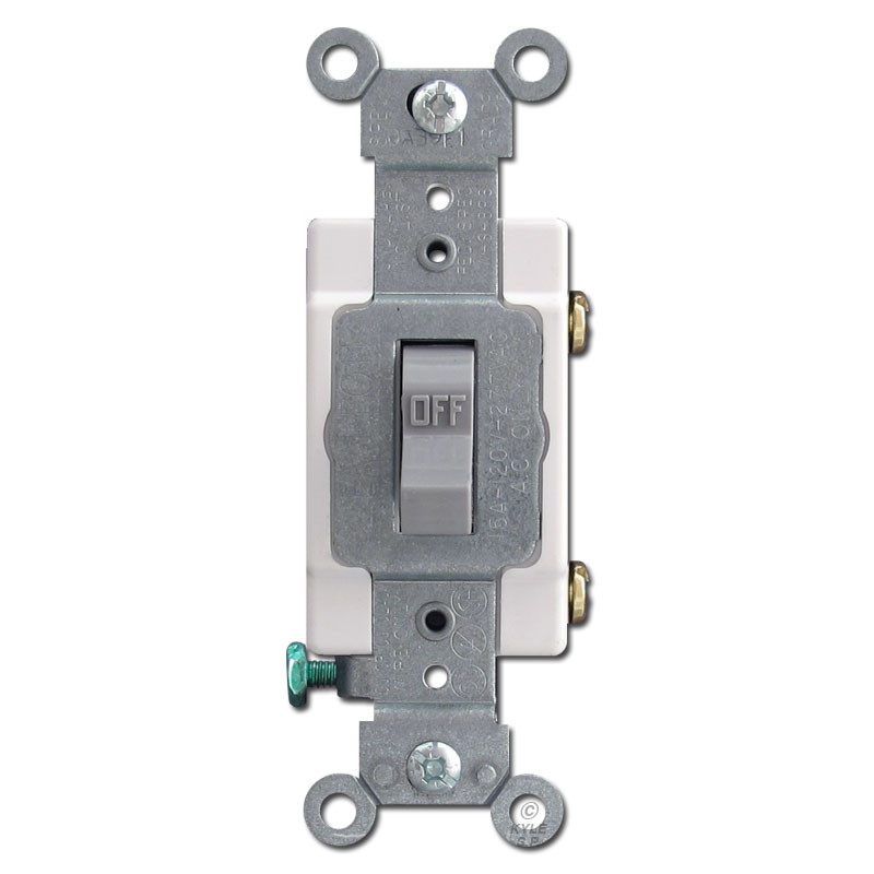 Gray Toggle Light Switch 15A Leviton CS115-GRY