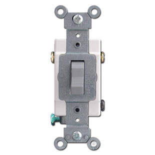 Gray Leviton 3 Way Toggle Light Switch