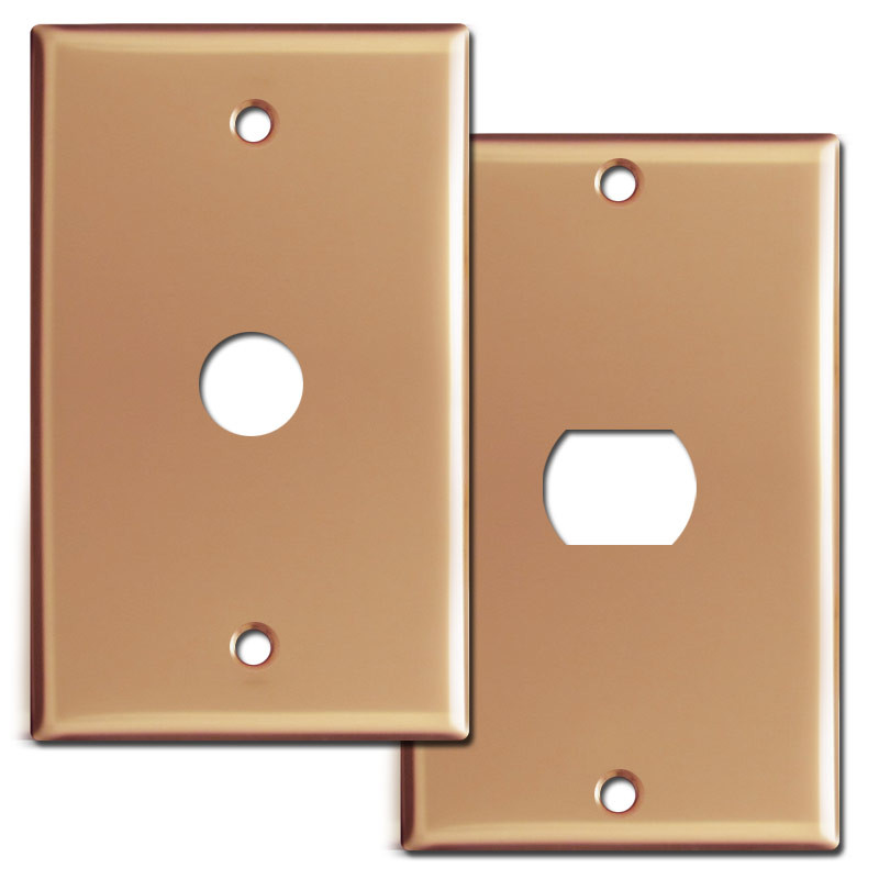 Polished Copper Switch Plates Outlet Covers