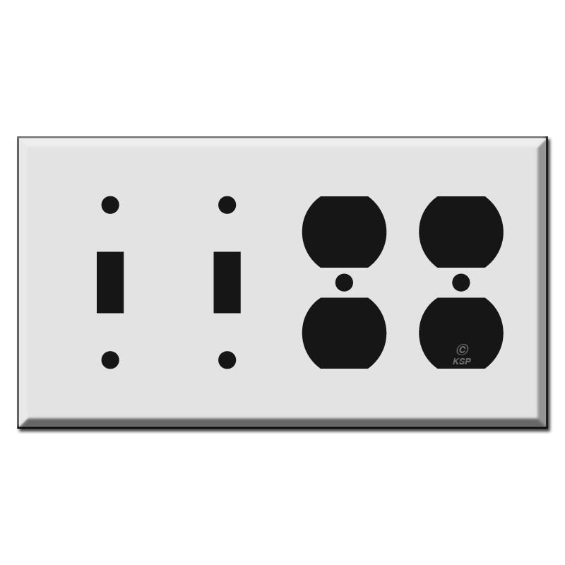 3 Toggle 1 Rocker Switch Plate  sc 1 st  Kyle Switch Plates & 4 Gang Wall Plates | Kyle Switch Plates