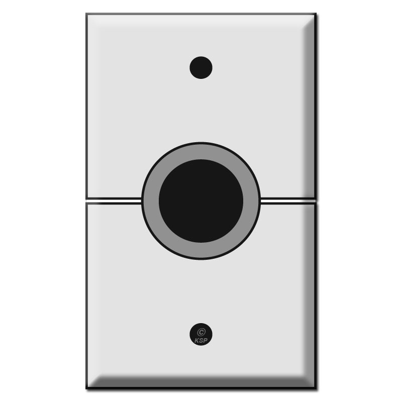 Split Av Cables Switch Plates With 1 Opening Rubber Grommet