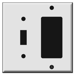 1 Toggle and 1 GFI Decora Outlet Combo Switch Plate Covers