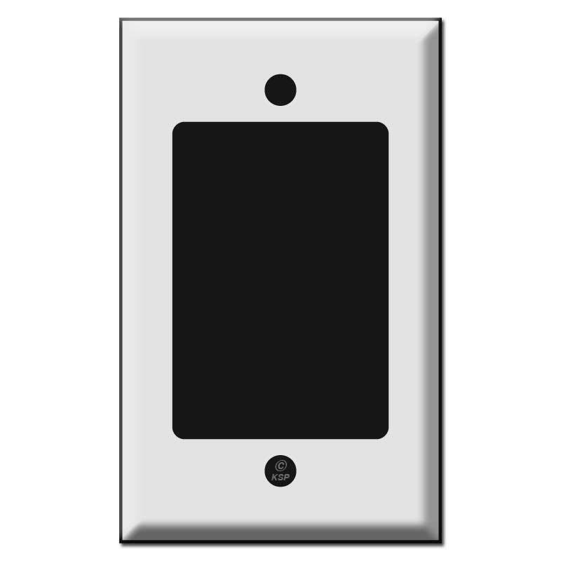 Single Gang Extra Large Block Opening Wall Switch Plates