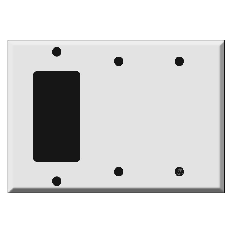 GFCI Decora Rocker Two Blank Combination Switch Plate Covers