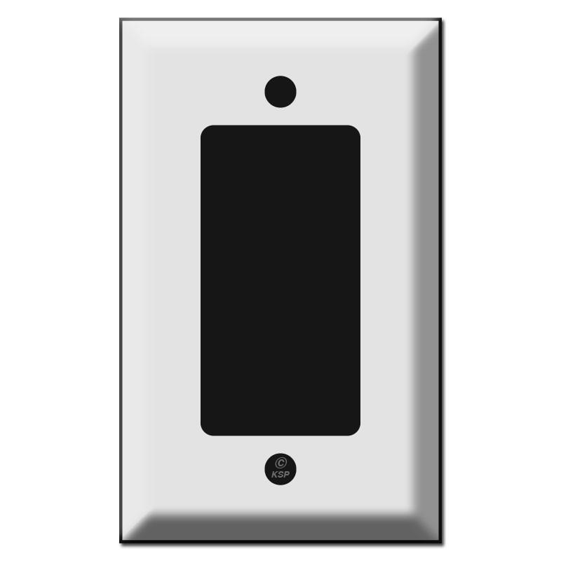 deep beveled single gfci decora rocker switch plate covers