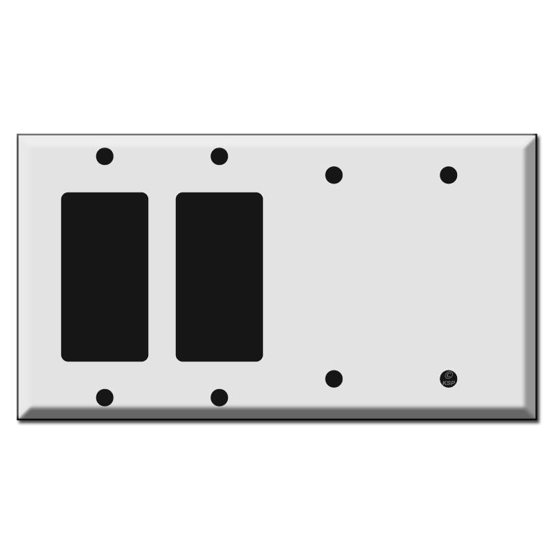 2 GFCI Decora Rocker and 2 Blank Switch Plates  sc 1 st  Kyle Switch Plates & 2 GFCI Decora Rocker and 2 Blank Switch Plates | Kyle Switch Plates