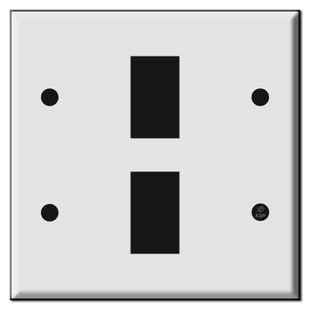 New Style Double Gang Low Voltage Wall Switch Plates for 2 GE Switches