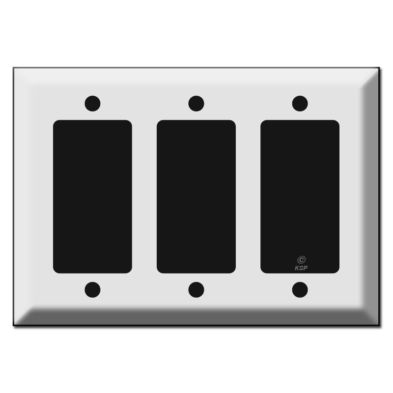 Triple Switch Plate Cover Best Beveled Triple Gfci Decora Rocker Switch Plate Covers Decorating Inspiration