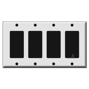 4 Decora GFI Rocker Light Switch Wall Plates