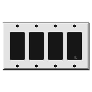 4 Decora GFI Rocker Light Switch Wall Plates