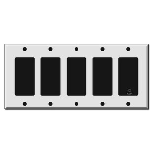 5 Gang Decora Rocker Switch Plate Covers