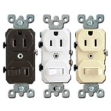 15A Duplex Outlet & Toggle Switch Combo Device